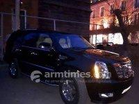 Արմեն Սարգսյանը երթեւեկում է կնոջ պատկանող չհայտաարագրված Cadillac Escalade-ով. «ՀԺ»