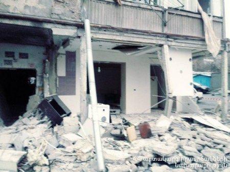 Պայթյունի հետևանքով կոտրվել են անգամ հարակից շենքի պատուհանները (տեսանյութ)