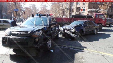 Երևանում վթարի են ենթարկվել վարչապետի անվտանգության աշխատակիցները