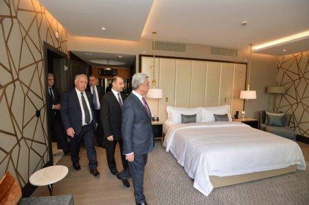 Սերժ Սարգսյանը ներկա է գտնվել «Ալեքսանդր» հյուրանոցային համալիրի բացման արարողությանը