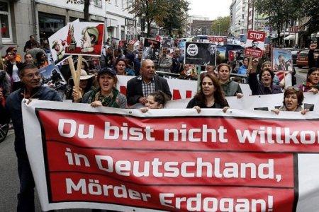 Գերմանիայում Էրդողանի այցի դեմ բողոքի ցույցեր են անցկացվել
