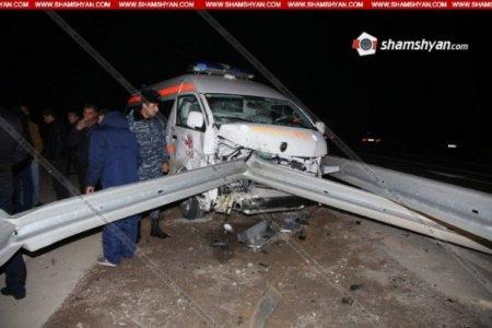 Հերթական ողբերգական վթարը շտապօգնության մեքենայի մասնակցությամբ. Կա 1 զոհ, 3 վիրավոր