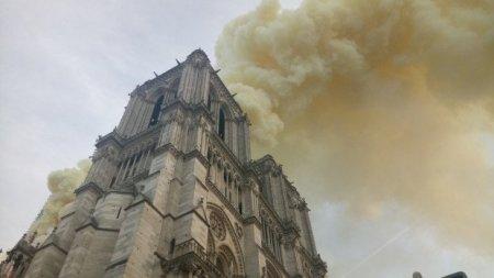 Այրվում է Փարիզի Աստվածամոր տաճարը, փլուզվել է  տաճարի տանիքը. Տեսանյութ. Լուսանկարներ
